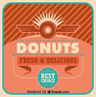 레트로 도넛 포스터 디자인