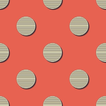 Retro dots pattern. abstract geometric background in 80s, 90s style image. geometrical simple illustration