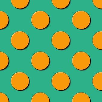 レトロなドットパターン、80年代、90年代スタイルの抽象的な幾何学的な背景。幾何学的な簡単な図