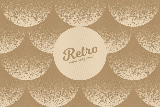 Retro dotwork stipple texture abstract background