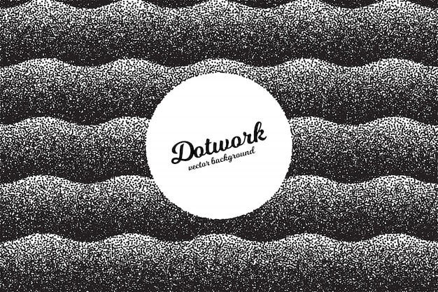 Retro dotwork texture abstract background