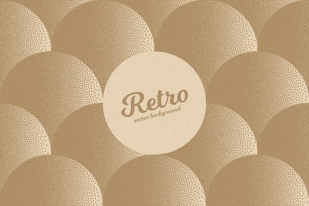 Retro dotwork texture background