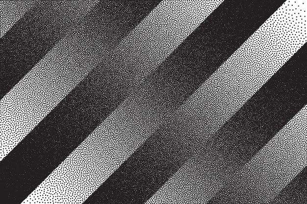 Retro dotwork texture striped background