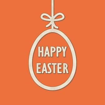 Ретро пасхальное яйцо иллюстрация для праздничного фона. креативный и винтажный стиль карты