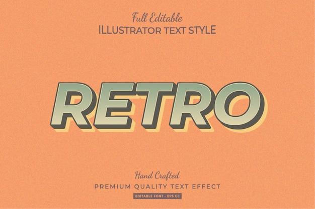 Retro editable 3d text effect