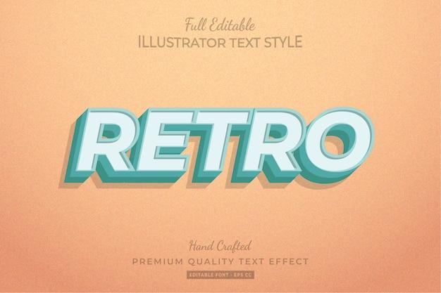 Retro editable 3d text style effect