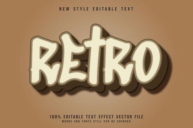 Редактируемый текстовый эффект в стиле ретро 3-мерное тиснение в винтажном стиле