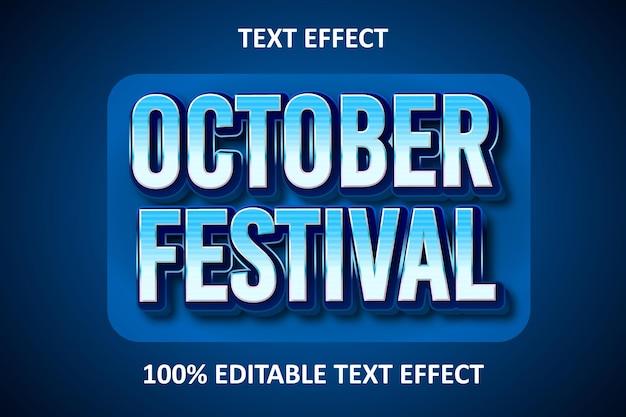 Retro editable text effect blue light
