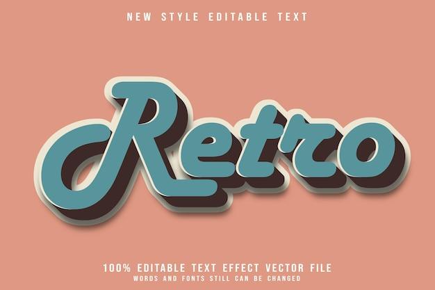 Редактируемый текстовый эффект в стиле ретро с тиснением в винтажном стиле