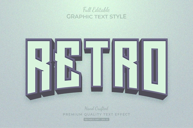 Retro editable text effect font style
