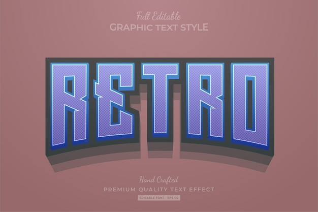 Retro editable text effect font style