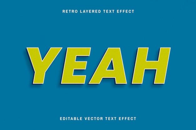 Retro editable text effect  shadow font