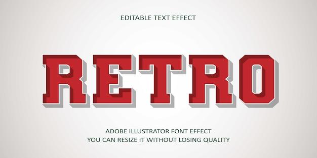 Retro editable text effect