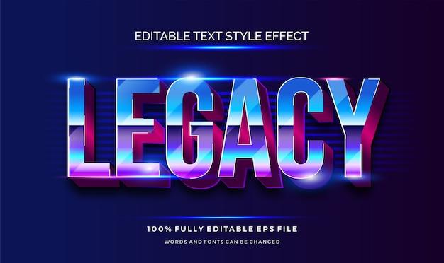 Ретро редактируемый эффект стиля текста. электрический контур