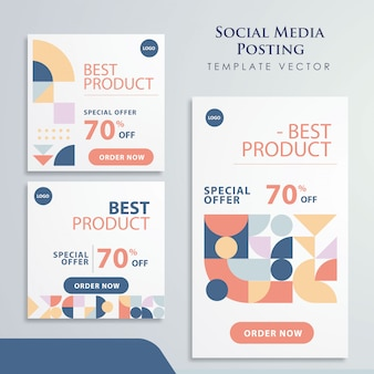 Retro element social media promotion design