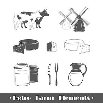 Retro farm elements