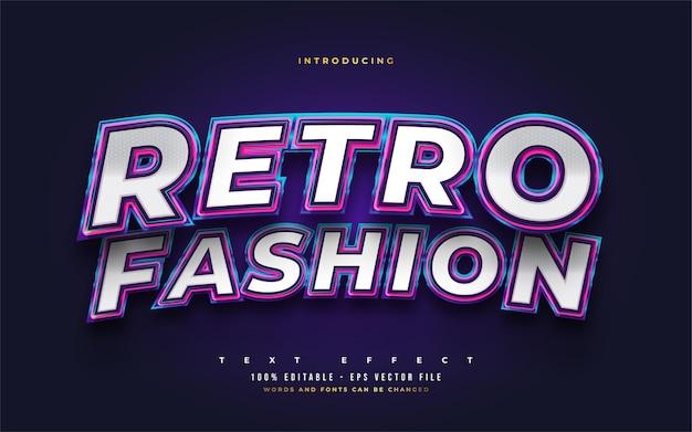 Retro fashion editable text style effect