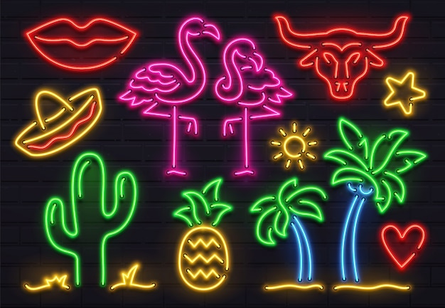 Retro fashion neon sign