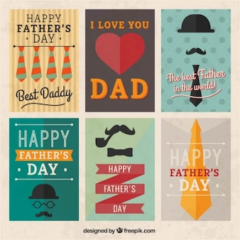 Retro fathers day posters