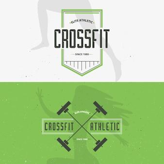 Retro priorità bassa di fitness in colore verde