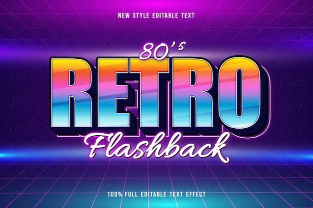 Retro flashback editable text effect retro style