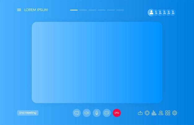 Retro flat black business template on white backdrop call icon business design web design