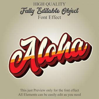 Retro flat script text style editable font effect