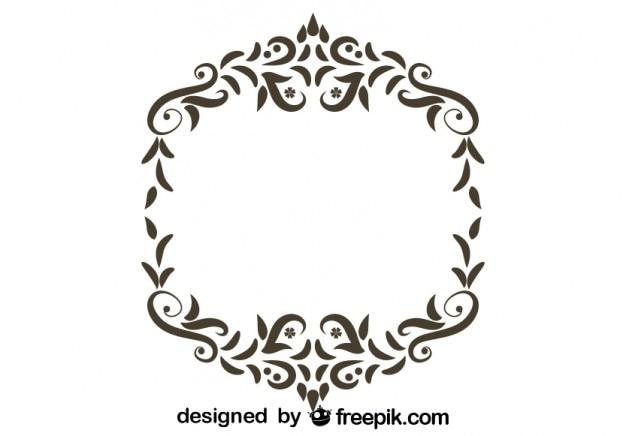 Retro disegno floreale cornice ornamentale