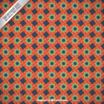 Retro floral mosaic backrgound