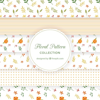 Retro floral pattern collection