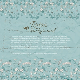 Retro flourish background