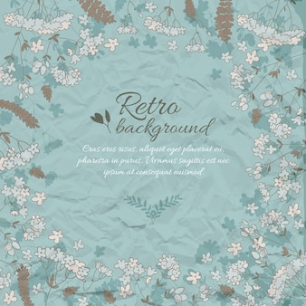 Retro flowery decorative background