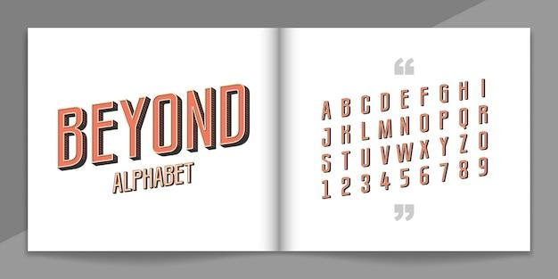 Ретро шрифт и алфавит набор.