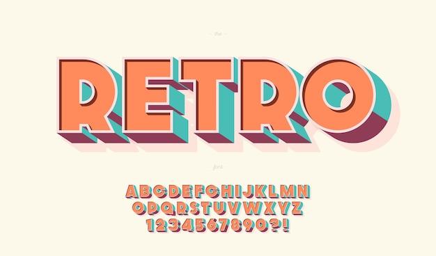 Ретро шрифт жирный стиль современная типография