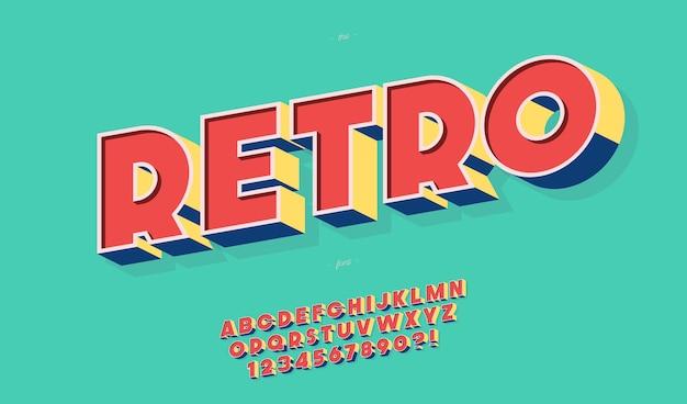 Модная типографика в стиле ретро жирным шрифтом