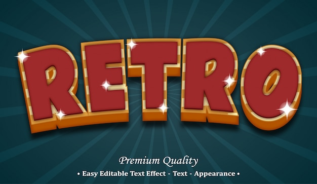 Retro  font style effect