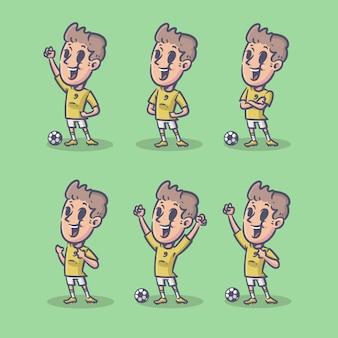 Retro football player character