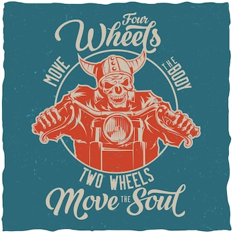 Retro four wheels poster