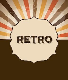 Retro frame over grunge background vector illustration