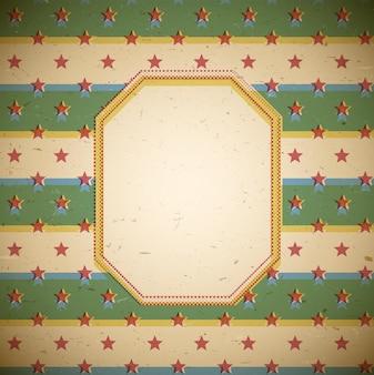 Retro frame with stars