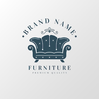 Retro furniture logo template design