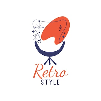 Retro furniture logo template style