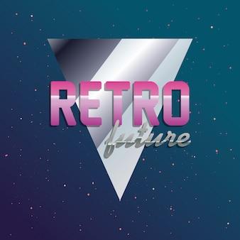 Retro future label