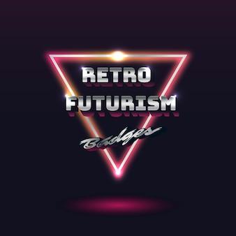 Retro futurism sign