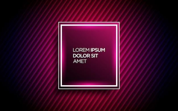 Retro futuristic background with geometric neon effect