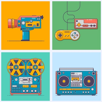 Retro gadgets from 90s