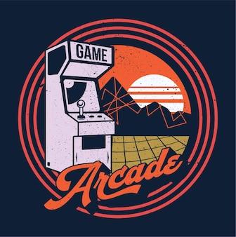 레트로 게임 아케이드 올드 클래식 80년대 90년대 디스플레이