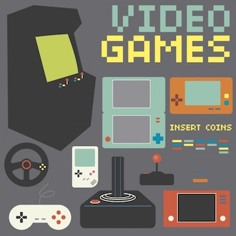 Retro game console collection