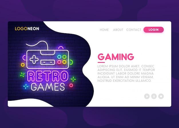 Retro game landing page