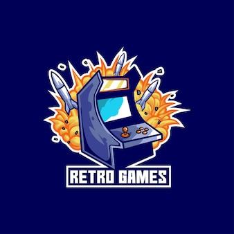 レトロゲームコンソールアーケードデバイスボタン